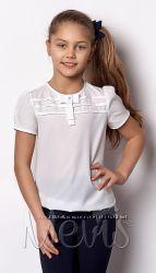 Блузки школьные Brilliant Mevis короткий рукав Размеры 116- 158 45d4668a89e8f