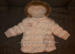 Белоснежная курточка Next 9-12м в отличном состоянии