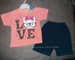 Комплект шорты и футболка Love Турция
