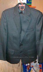 Школьный темносерый костюм 3012857