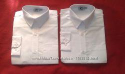 новая белая рубашка с длинным рукавом на 9-10лет