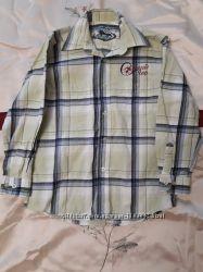 Рубашка в клетку на 9-10 лет