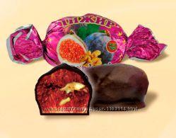 Конфеты шоколадные инжир с орехом