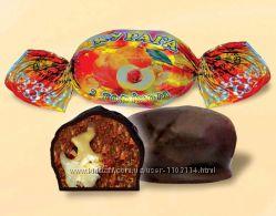 Конфеты шоколадные курага с орехом