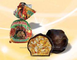 Конфеты шоколадные грильяж с клюквой