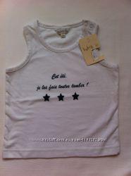Новая маечка для девочки французской марки для детей Babibou 12 мес.