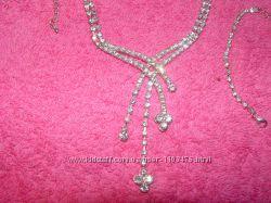 ожерелье цепочка подвеска с браслетом