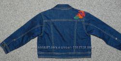 стильная джинсовая куртка размер 2-3 года