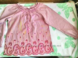 Оригинальная блузка H&M с длинным рукавом для девочки 9 -10 лет 134- 140