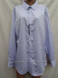 a1c4306e2f5 Мужская рубашка светло серого цвета. Классик. Размер XL. хлопок. Об. груди