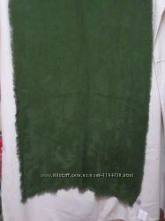 Шарф женский зеленого цвета. ширина 80 длина 230 см.
