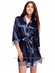 Натуральный шелковый комплект цвет синий