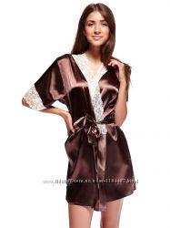Шикарный комплект халатик ночная рубашка