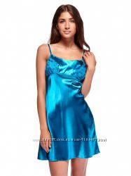 Шикарный комплект халатик ночная рубашка голубой цвет