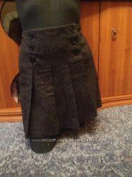 Брендовая юбочка шерстянная в складочку