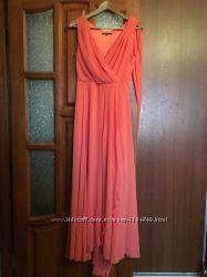 Шикарное платье длинное в пол, размер sm