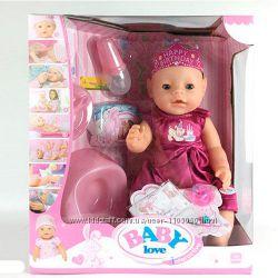 Кукла-пупс Беби Малятко-немовлятко BL018E 8 функций, 9 аксессуаров, Baby