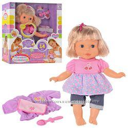 Кукла-пупс Беби Мамино Солнышко М 1172, сенсорная кукла, говорит 14 фраз