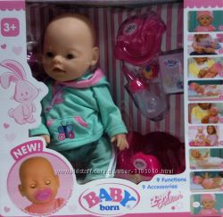 Кукла-пупс Беби Борн Baby Born 8001, 9 функций, 9 аксессуаров