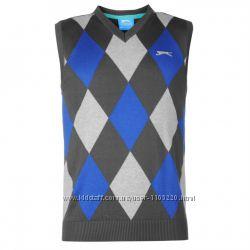 Мужская безрукавка Slazenger Argyle Knitted Vest Mens