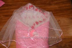 детский теплый конверт-одеяльце для новоржденного на выписку и для прогуло