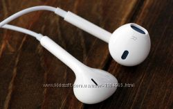 Наушники Apple iPhone Ipod белые с микрофоном копия