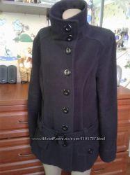 New yorker amisu чёрное демисезонное пальто-полупальто 46-48р