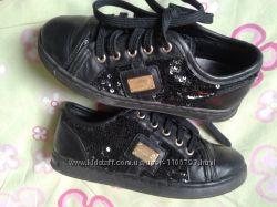Dolce&gabbana туфли ботинки мокасины кожа, пайетки 29р19см