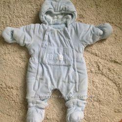 Утепленный велюровый комбинезон для новорожденного Prenatal рост 47- 53 см