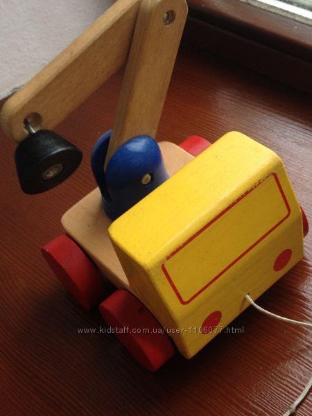 Деревянные пазлы, кубики, машина