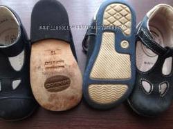 Мегаудобные кожаные туфельки - босоножки из Италии 19, 20 размер