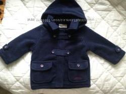 Флисовая куртка-пальтишко на 100 хлопковой подкладке 6-12 мес. Из Италии.