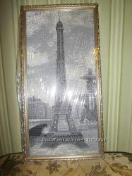 картина вышитая бисером Эйфелевая башня