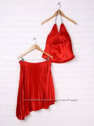 Новый женский летний нарядный комплект юбка, топ, р. S