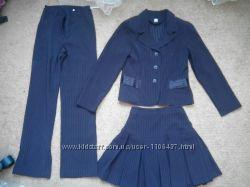 Продам костюм школьный на девочку юбка, брюки, жакет, р140-146