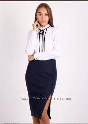 ce3b8544d90 Новая женская классическая тёплая юбка карандан