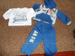 Трикотажный костюм для мальчика, тройка, новый