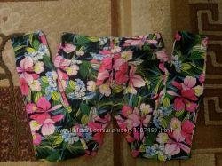 джинсы цветочный принт