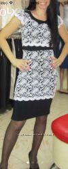 Платье на корпоратив, вечернее, выпускное, нарядное с  гипюра, размер S