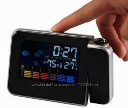 Часы-метеостанция с проектором времени