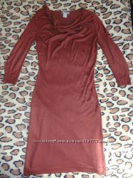 Платье H&M коричневое