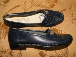 Летние кожаные туфельки, португальское качество