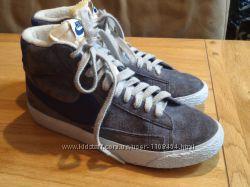 Замшевые кроссовки Nike Blazer Mid, оригинал.