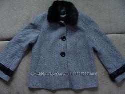 Пальто Lener Cordier с мехом норки демисезонное короткое серое