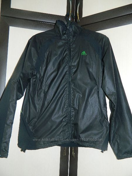 Спортивная кофта-ветровка Adidas и пиджак из кожзама