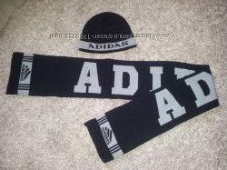комплект шапка и шарф на мальчика 5-8 лет