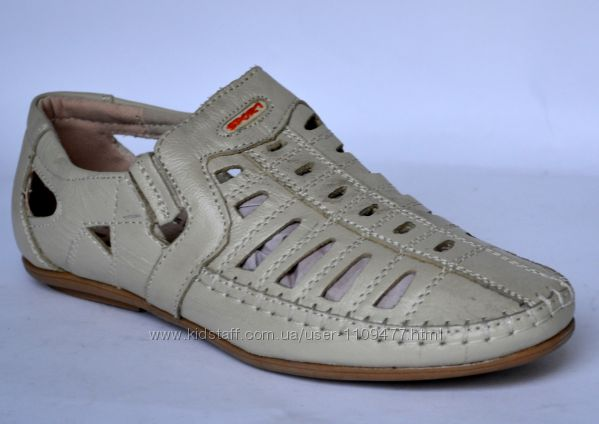 Кожаные туфли для мальчика Meekone
