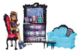 Кукла Monster High Клодин Вульф вместе с набором мебели