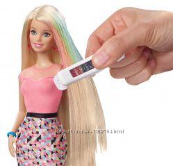 Кукла Барби с разноцветным катриджем для покраски волос