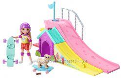 Куколка Челси-сестричка куклы Барби, щенок и Скейт Парк